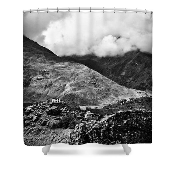 On The Mountainside Shower Curtain