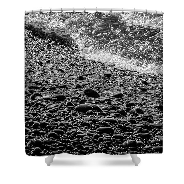 On The Rocks At French Beach Shower Curtain