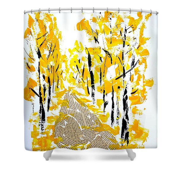 On The Way To School Shower Curtain