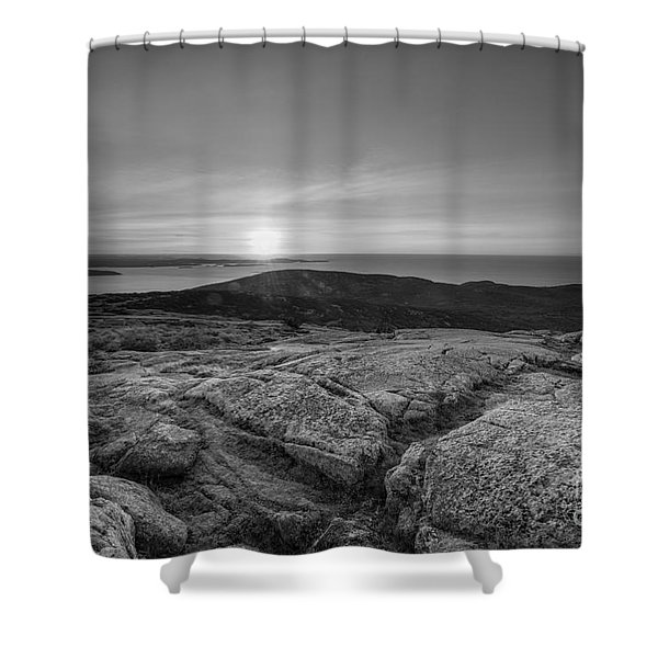 On Top Of Cadillac Mountain  Shower Curtain