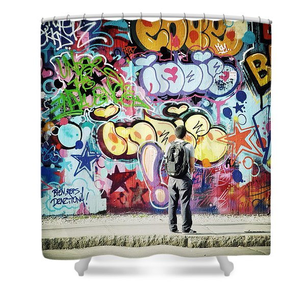 One Can't Paint New York As It Is But Rather As It Is Felt Shower Curtain
