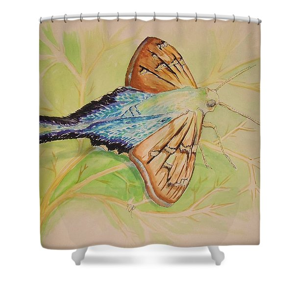 One Day In A Long-tailed Skipper Moth's Life Shower Curtain