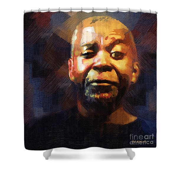 One Eye In The Mirror Shower Curtain