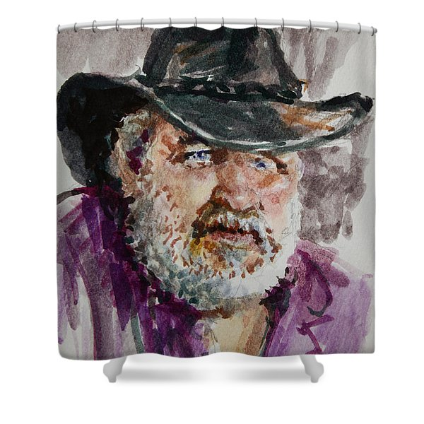 One Eyed Cowboy  Shower Curtain
