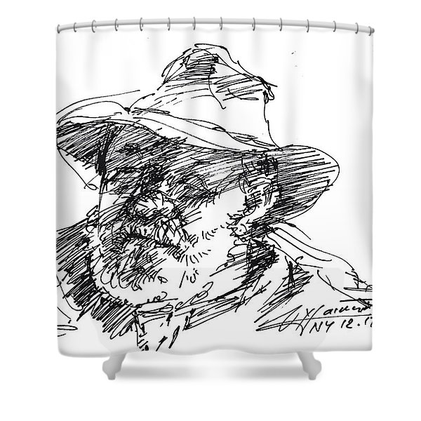 One Eyed Man Shower Curtain