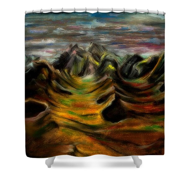 One Fall Eve In Paradise Shower Curtain