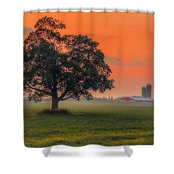 One Fine Morning Shower Curtain