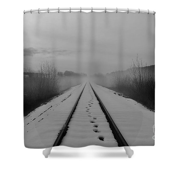 One Man's Journey Shower Curtain