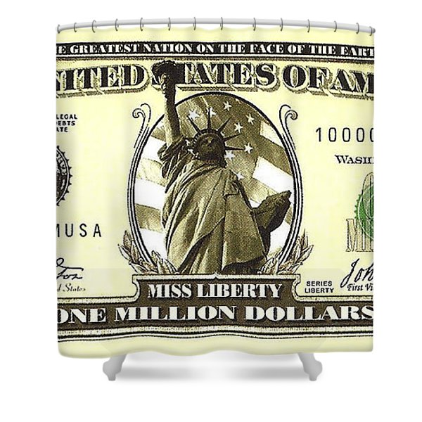 Shower Curtain featuring the photograph One Million Dollar Bill by Charles Robinson
