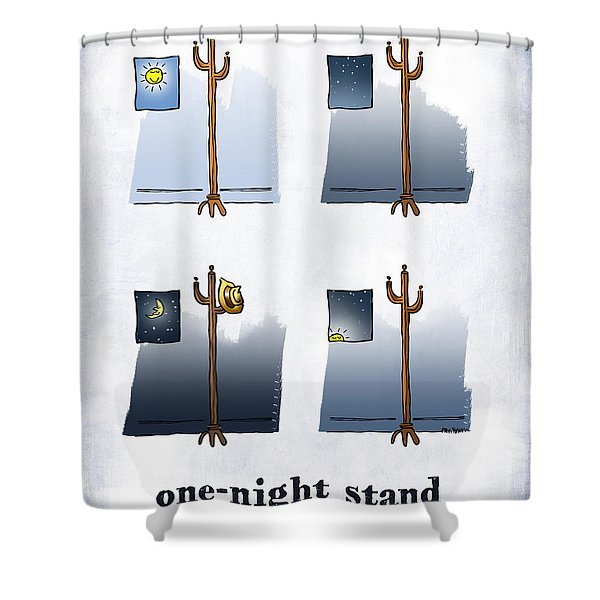 One Night Stand Shower Curtain