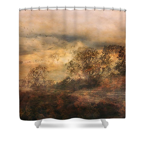 One October Day Shower Curtain
