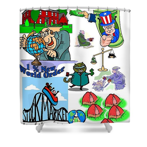 One Percent New World Order Shower Curtain