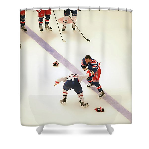One Two Punch Shower Curtain