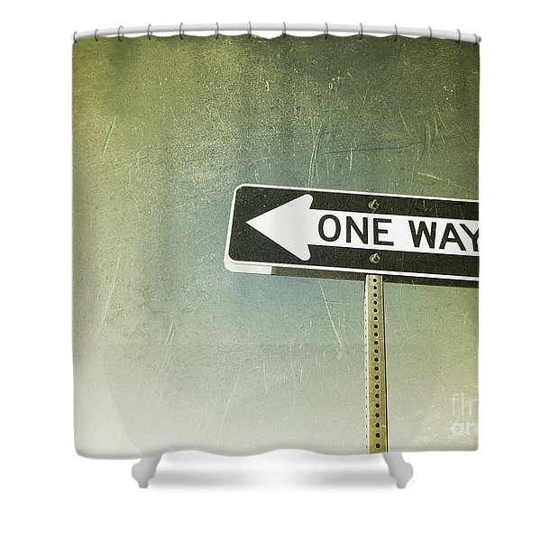 One Way Road Sign Shower Curtain
