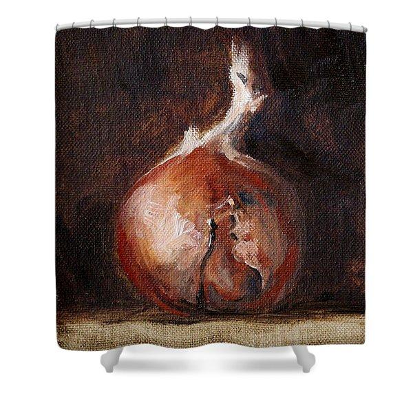 Onion Still Life Shower Curtain