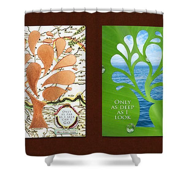 Only As Much As I Dream Series Shower Curtain