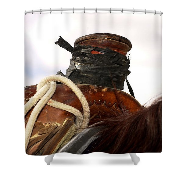 Open Range Saddle Shower Curtain