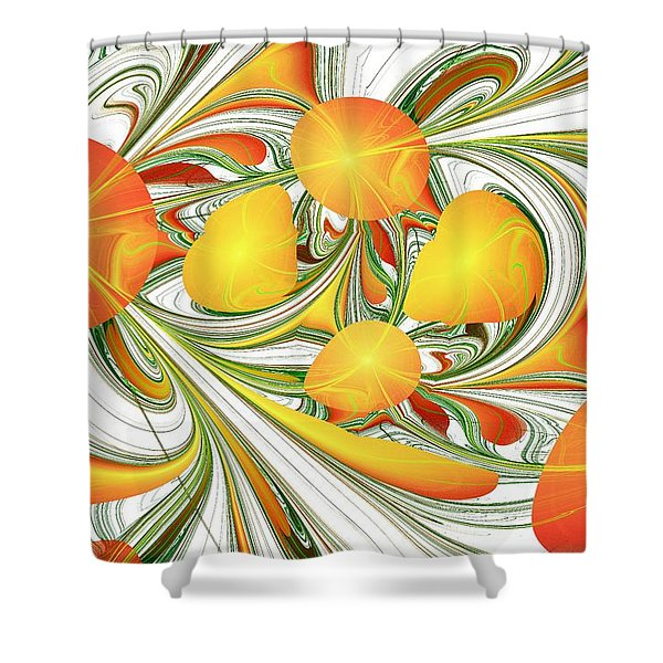 Orange Attitude Shower Curtain