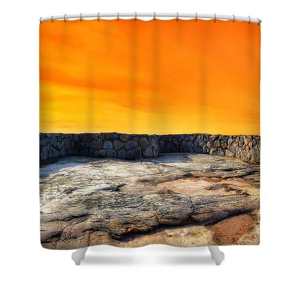 Orange Blaze Shower Curtain