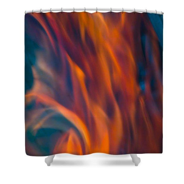 Orange Fire Shower Curtain