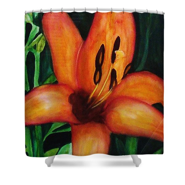 Beautiful Lily Flower Shower Curtain