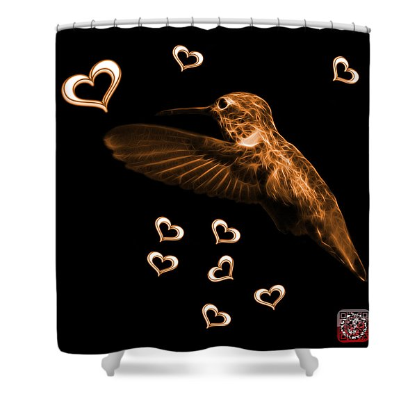Orange Hummingbird - 2055 F M Shower Curtain