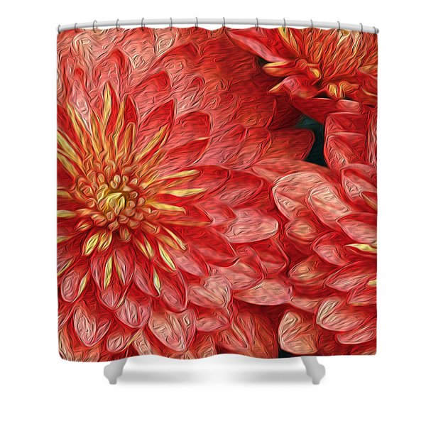Orange Petals Shower Curtain