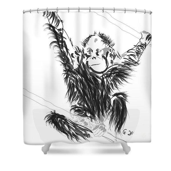 Orangutan Baby Shower Curtain