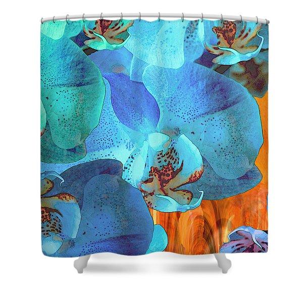 Orchid Cascade Shower Curtain
