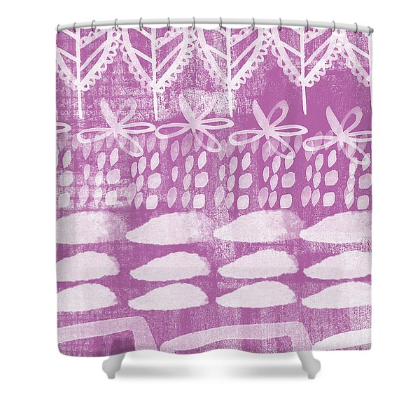 Orchid Fields Shower Curtain
