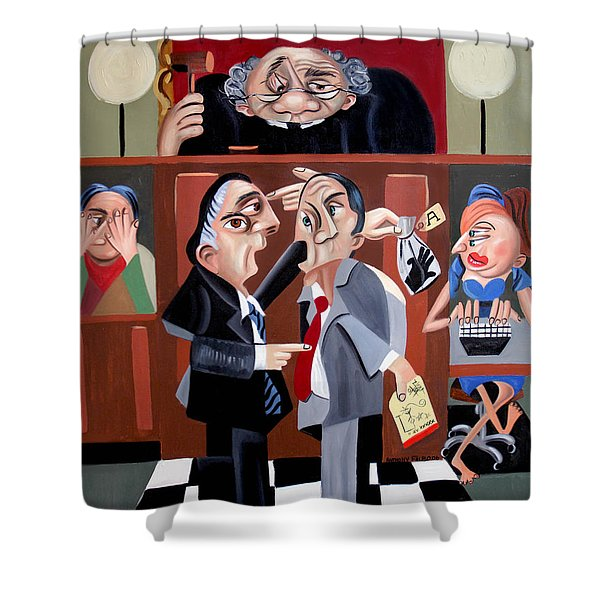 Order In The Court Shower Curtain
