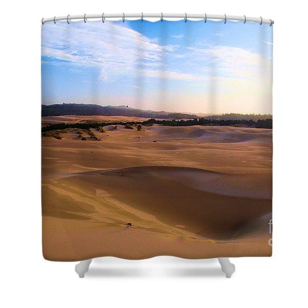 Oregon Dunes Landscape Shower Curtain