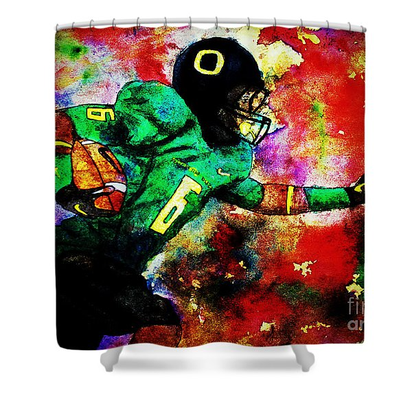 Oregon Football 3 Shower Curtain