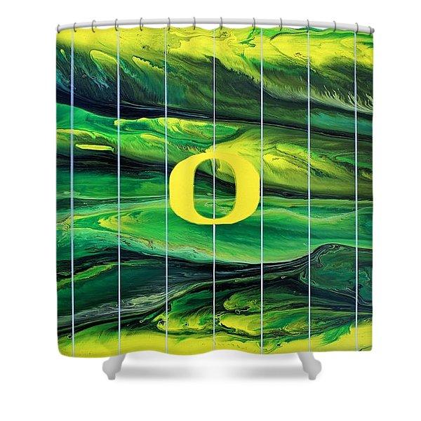 Oregon Football Shower Curtain