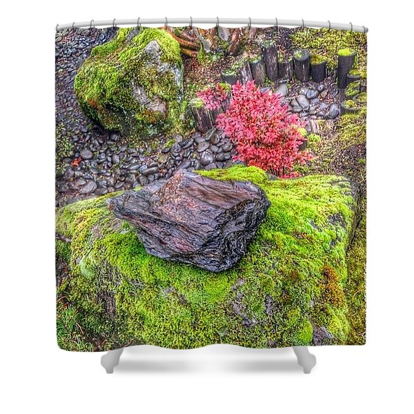 Oregon Moss - Here, There, Everywhere ! Shower Curtain