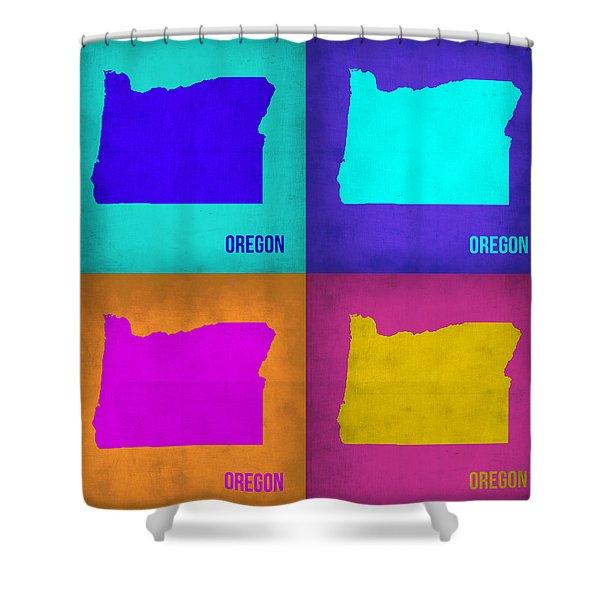 Oregon Pop Art Map 1 Shower Curtain