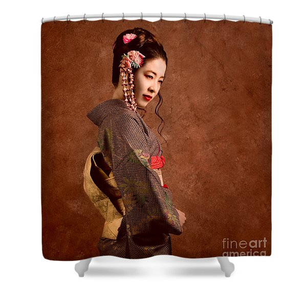 Oriental Beauty Shower Curtain