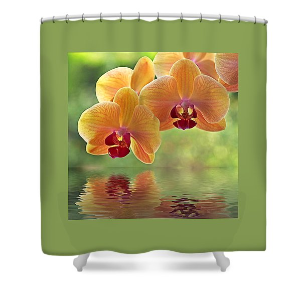 Oriental Spa - Square Shower Curtain