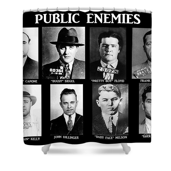 Original Gangsters - Public Enemies Shower Curtain