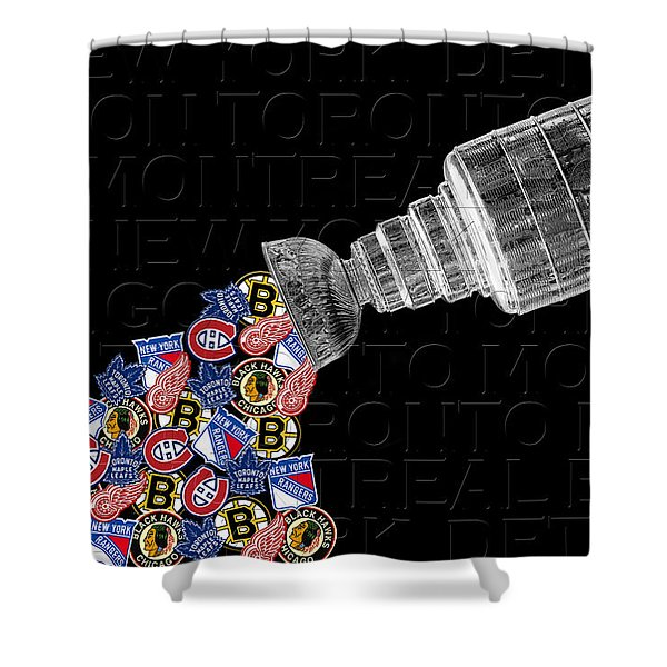 Original Six Stanley Cup 2 Shower Curtain