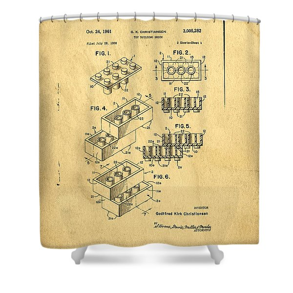 Original Us Patent For Lego Shower Curtain