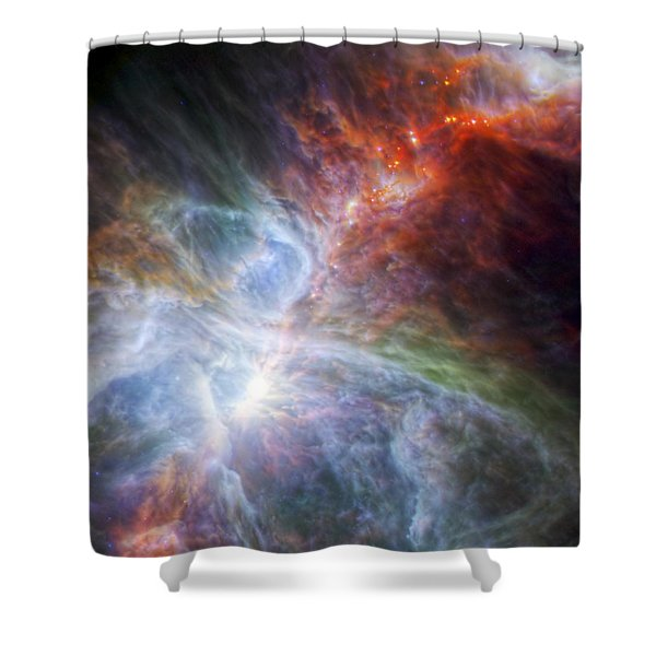 Orion's Rainbow Of Infrared Light Shower Curtain