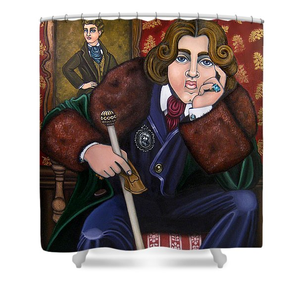 Oscar Wilde And The Picture Of Dorian Gray Shower Curtain