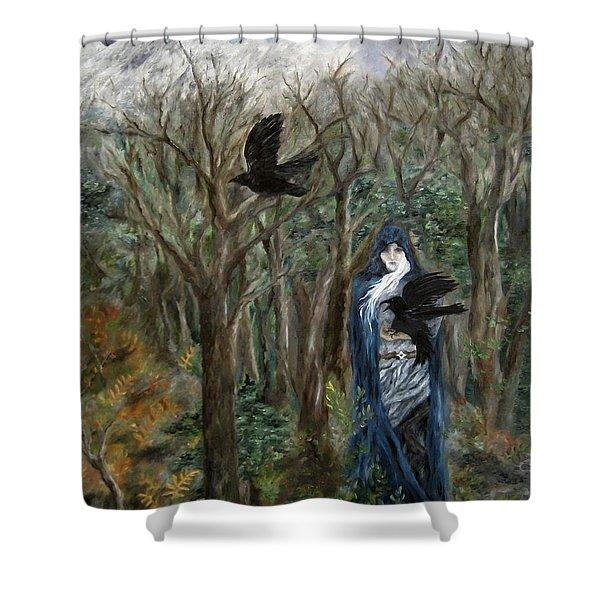 The Raven God Shower Curtain