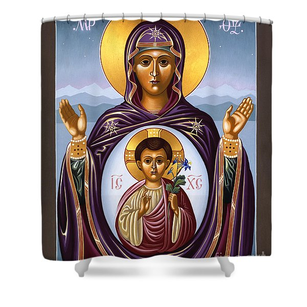 Our Lady Of The New Advent Gate Of Heaven 003 Shower Curtain