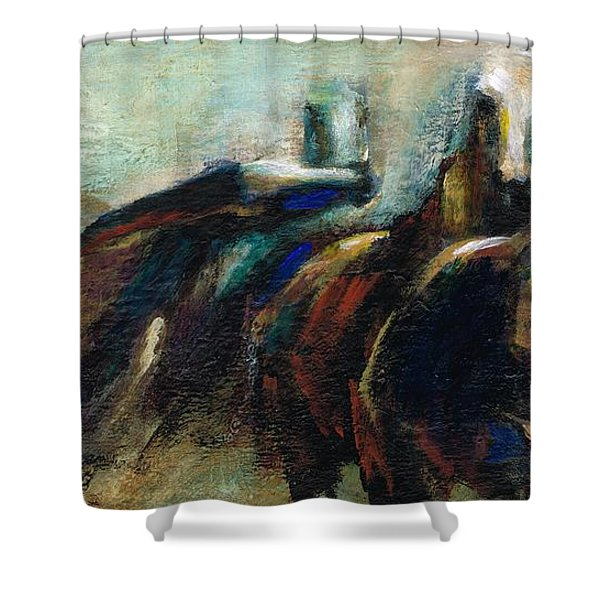 Out Of The Blue Into Reality Shower Curtain