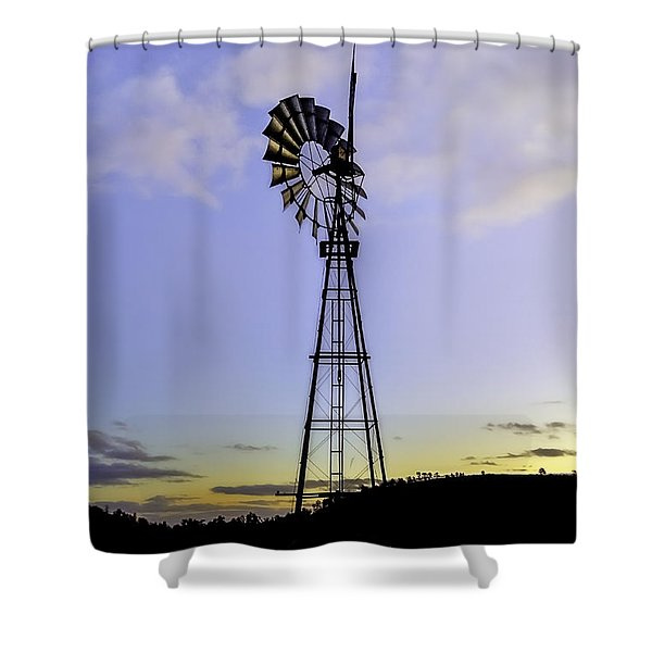 Outback Windmill Shower Curtain