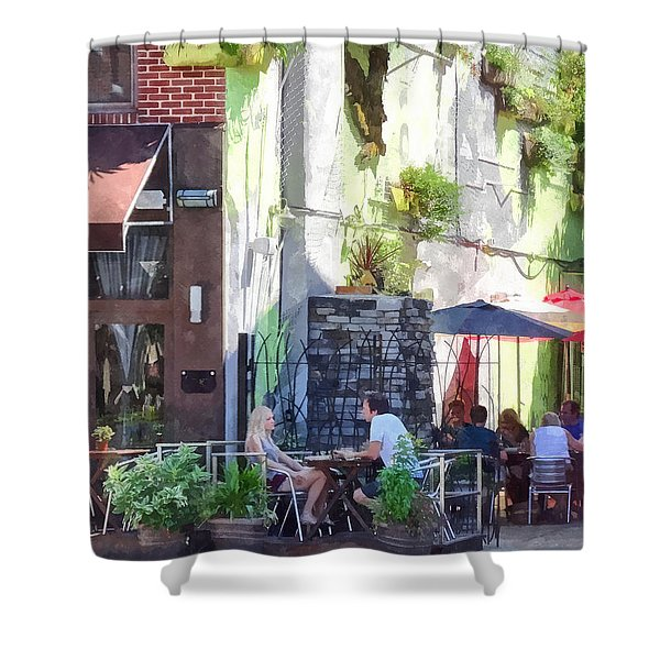 Outdoor Cafe Philadelphia Pa Shower Curtain