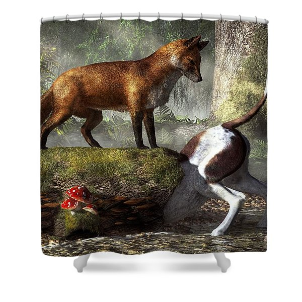 Outfoxed Shower Curtain