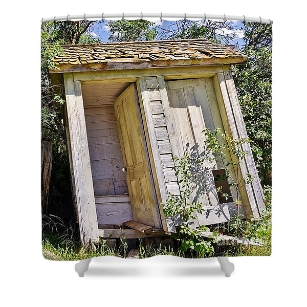 Outhouse For Two Shower Curtain